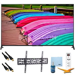 XBR49X850B - 49-Inch 4K Ultra HD 120Hz 3D LED TV Tilt Mount & Hook-Up Bundle