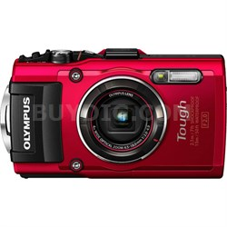 TG-4 16MP 1080p HD Waterproof Digital Camera w/ 3-In. LCD - Red - OPEN BOX