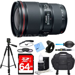EF 16-35mm F4L IS USM Lens Deluxe Accessory Bundle
