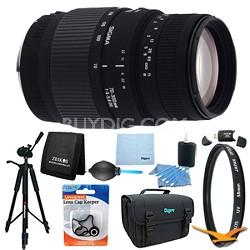 70-300mm f/4-5.6 SLD DG Macro Lens for Nikon DSLRs Lens Kit Bundle
