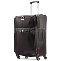 """Aspire XLite 25"""" Expandable Soft-Side Spinner Luggage Blk - OPEN BOX"""