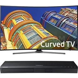 "Curved 65"" 4K UHD Smart LED TV- 65KU6500+ Samsung UBDK8500 4K UHD Blu-Ray Player"