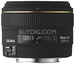 30mm f/1.4 EX DC HSM Autofocus Lens for Canon Digital SLR Cameras