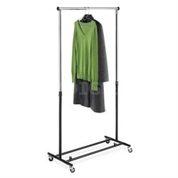 Folding Garment Rack in Black Chrome - 6021-4470-BB