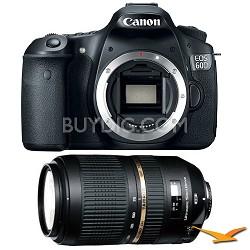EOS 60D 18 Megapixel SLR Digital Camera AF 70-300mm Tamron Lens