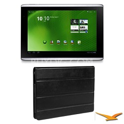 """ICONIA TAB A500-10S16U 10.1"""" 16 GB Tablet with Android with Case Bundle"""