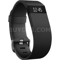 Charge HR Wireless Activity Wristband, Black, Small
