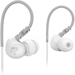 M6 Sports In-Ear Headphones (White/Grey)
