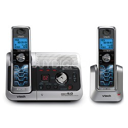 6042 DECT 6.0 Two Handset Cordless Phone w/ Digital Answering System &Caller ID