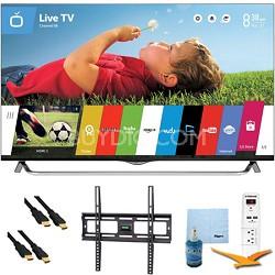 55 Inch 4K Ultra HD 120Hz 3D Smart LED TV Plus Mount & Hook-Up Bundle (55UB8500)