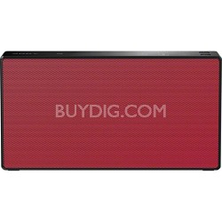 SRSX5 Portable NFC Bluetooth Wireless Speaker System - Red - OPEN BOX