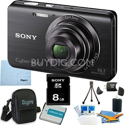 Cyber-shot DSC-W650 Black 8GB Digital Camera Bundle