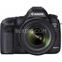 EOS 5D Mark III 22.3 MP Full Frame Digital SLR Camera 24-70mm f/4L IS Lens Kit