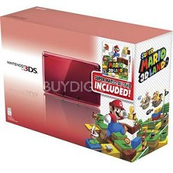 3DS with Super Mario 3D Land - Flame Red