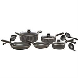 12-Piece Admiration Nonstick Dishwasher Safe Cookware Set - C957SC74