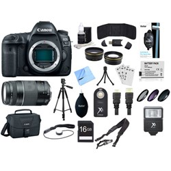 EOS 5D Mark IV 30.4 MP Full Frame CMOS DSLR Camera (Body) & 75-300mm Lens Bundle