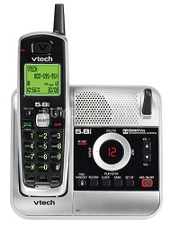 CS5121 - 5.8GHz Cordless Phone with Digital Answering System and Caller ID