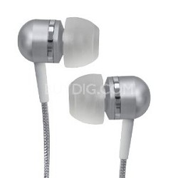 CVEM79SVR Jammerz Platinum High-Performance Isolation Stereo Earphones (Silver)