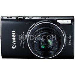Powershot ELPH 350 HS Black 20.2MP Digital Camera with 12x Opt. Zoom and Wi-Fi