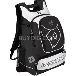 Vexxum Backpack Baseball Gear Bag - Black/White