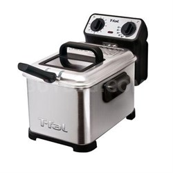 3-Liter Oil Capacity Electric Deep Fryer with Stainless Steel Waffle - FR4049001