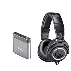 ATH-M50x Professional Headphones And FIIO Amplifier Bundle