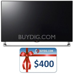 55 Inch 240Hz 3D Nano-Full 4K UHDTV Smart TV (55LA9700) Bundle