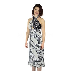 100 Way Wrap Skirt Dress, Hana - Black&White (One Size)