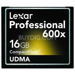Professional 600x Compact Flash 16 GB Memory Card