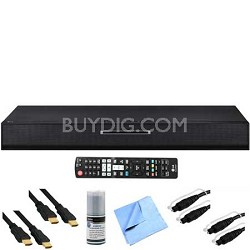 2.1ch 100w SoundPlate Home Theater w/ Blu-ray Player Plus Hook-Up Bundle LAB550H