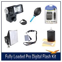 Fully Loaded Pro Digital Flash Kit For all Digital SLR Cameras