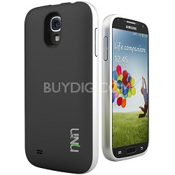 Unity Ultra-Slim 2600mAh Battery Case for Samsung Galaxy S4 - Black/Silver