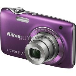 COOLPIX S3100 14MP 5x Zoom Purple Compact Digital Camera