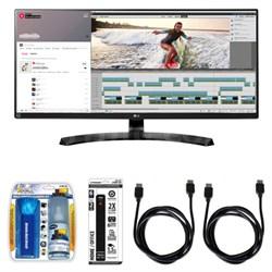 "QHD IPS 34"" Monitor w/ Accessory Hook up Bundle"