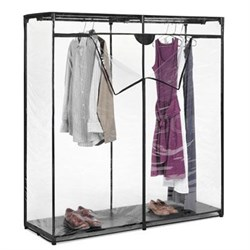 """60"""" Extra Wide Clear Clothes Closet - 6013-167"""