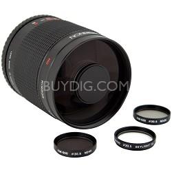 500mm f/8.0 Mirror Lens for Canon DSLR Cameras (Black)