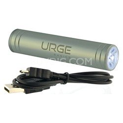 Flash Tube Pro 2600mAh Battery with Flashlight (Silver)