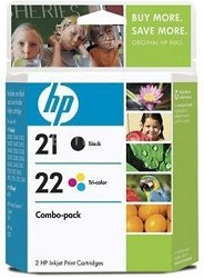 PS HP 21/22 Combo-pack Inkjet Print Cartridges