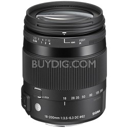 18-200mm F3.5-6.3 DC Macro OS HSM Lens for Canon EOS