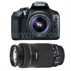 EOS Rebel T6 DSLR Camera with EF-S 18-55mm IS II and EF-S 55-250mm IS STM Lenses