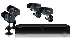 4 Channel H.264 Video Surveillance Kit 500GB DVR and 4 Night Vision Cameras