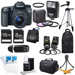 EOS 70D 20.2 MP CMOS DSLR Camera w/ EF-S 18-55mm STM + 55-250mm Lens Ultra Kit