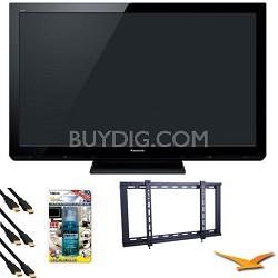 """TC-P50X3 50"""" VIERA HD (720p) Plasma TV Value Bundle"""