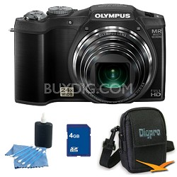4 GB Kit SZ-31MR iHS 16MP 24X Opt Zoom 3 in LCD Camera - Black
