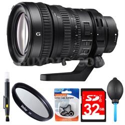 28-135mm FE PZ F4 G OSS Full-frame E-mount Power Zoom Lens 32GB Bundle