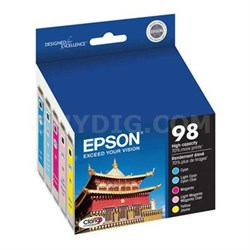 Color Multipack High Capacity Inkjet Cartridge - T098920
