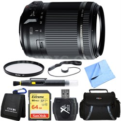 18-200mm Di II VC All-In-One Zoom Lens for Canon Mount 64GB Memory Card Bundle