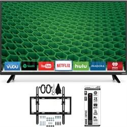 "D43-D2 D-Series 43"" 120Hz Full-Array LED Smart TV Flat + Tilt Wall Mount Bundle"