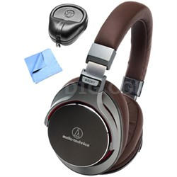 SR7 SonicPro Over-Ear Headphones w/ Slappa Case & Cleaning Cloth, Gun Metal