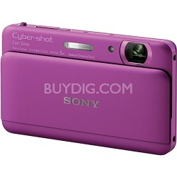 "Cyber-shot DSC-TX55 Violet Slim Digital Camera w/ 3.3"" OLED Touchscreen"